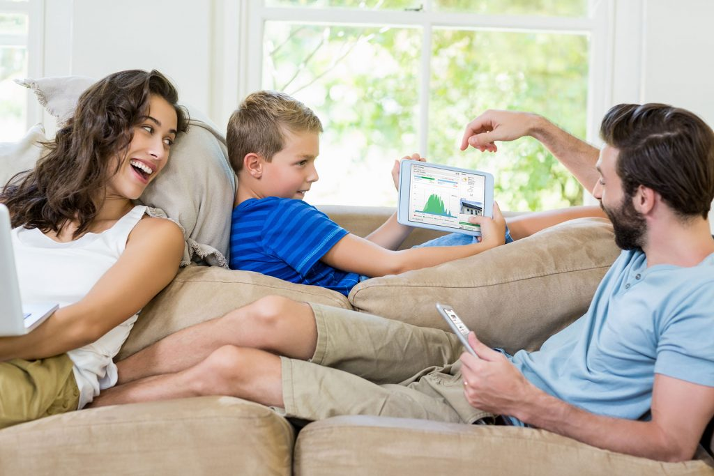 Family Living Room Tablet by Perth Solar Warehouse