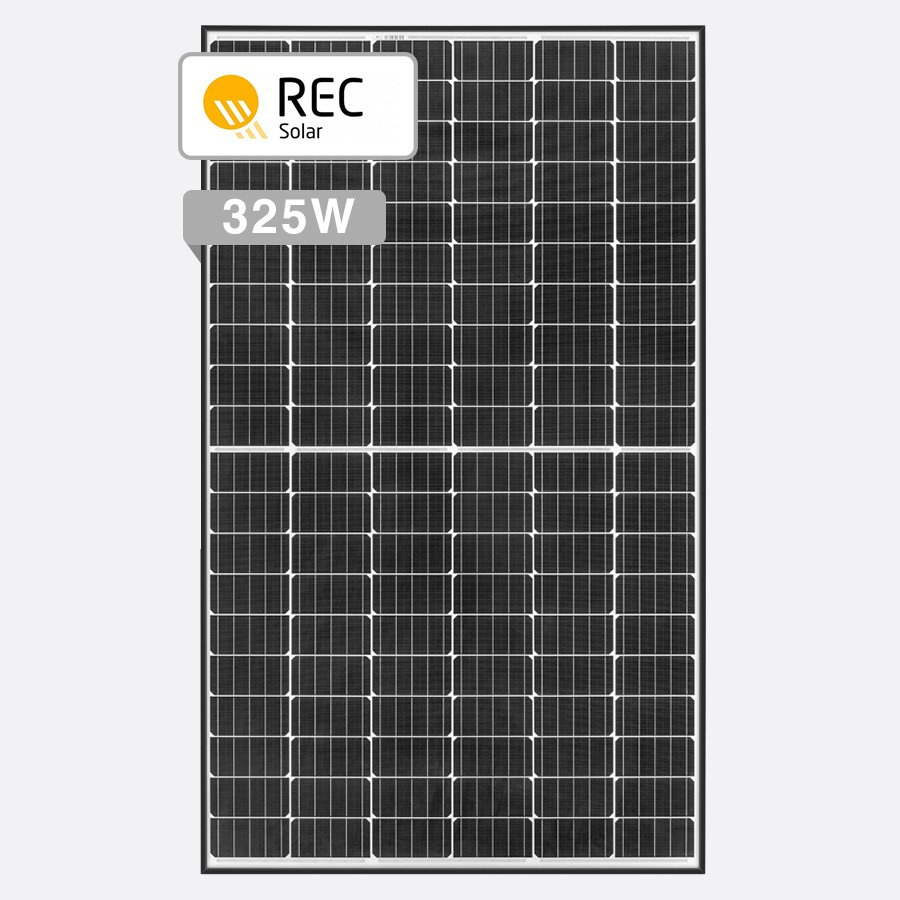 REC 325W TwinPeak S2 Mono by Perth Solar Warehouse