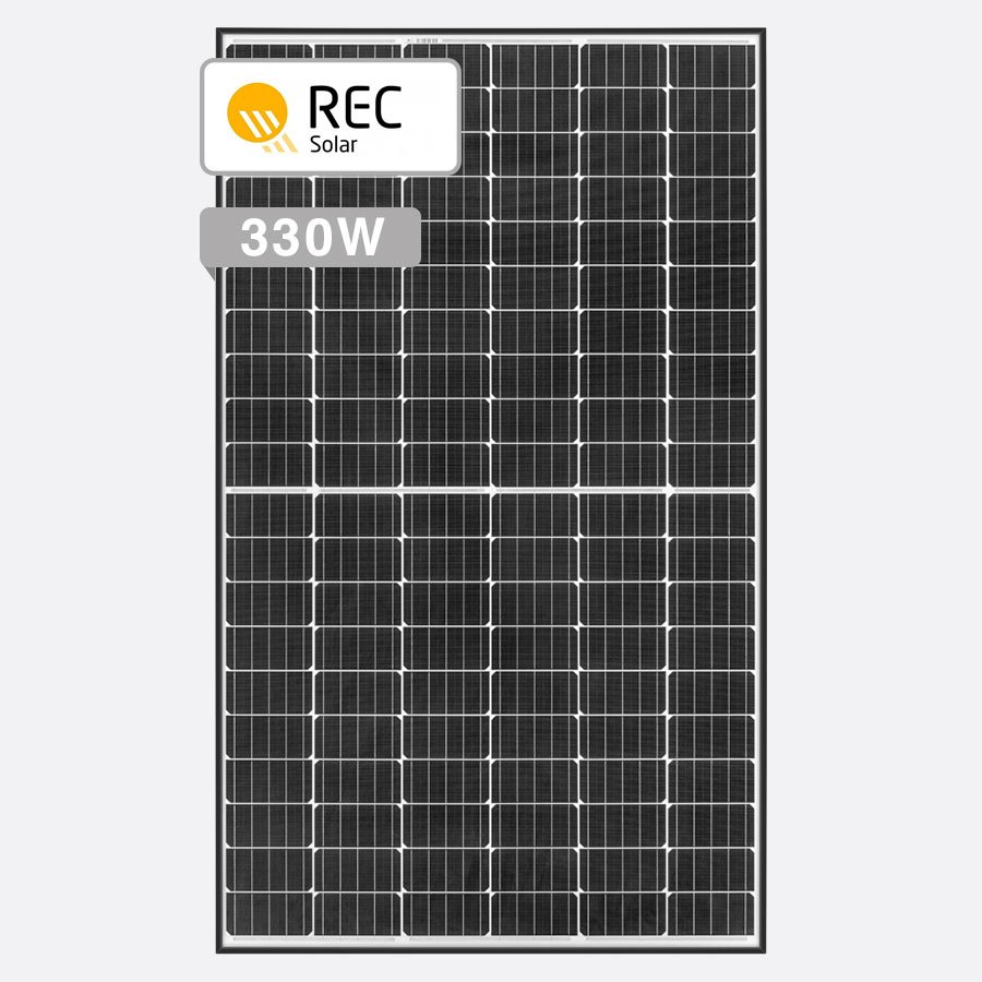 REC TwinPeak 330W panel by Perth Solar Warehouse